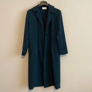 Sandro Robertine Gabardine Trenc Coat Emeral color